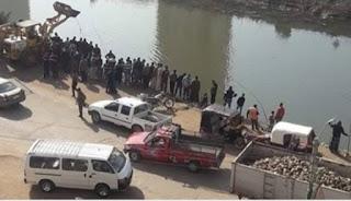 بلأسماء...إنقلاب سيارة بها 18 لاعب كرة في ترعة برطس علي طريق اوسيم