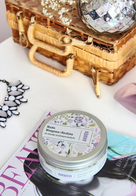 Anwen | Maska Winogrona i Keratyna do włosów średnioporowatych