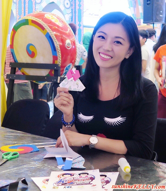DIY Hanbok Origami @ Korean Arts & Crafts Workshop, K-Street Carnival, Klang Parade