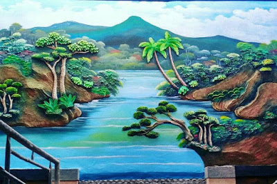 Jasa Tukang Taman Surabaya Dekorasi Tebing Dinding