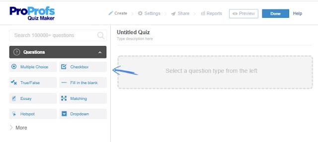 Membuat Ujian Online dengan ProProfs