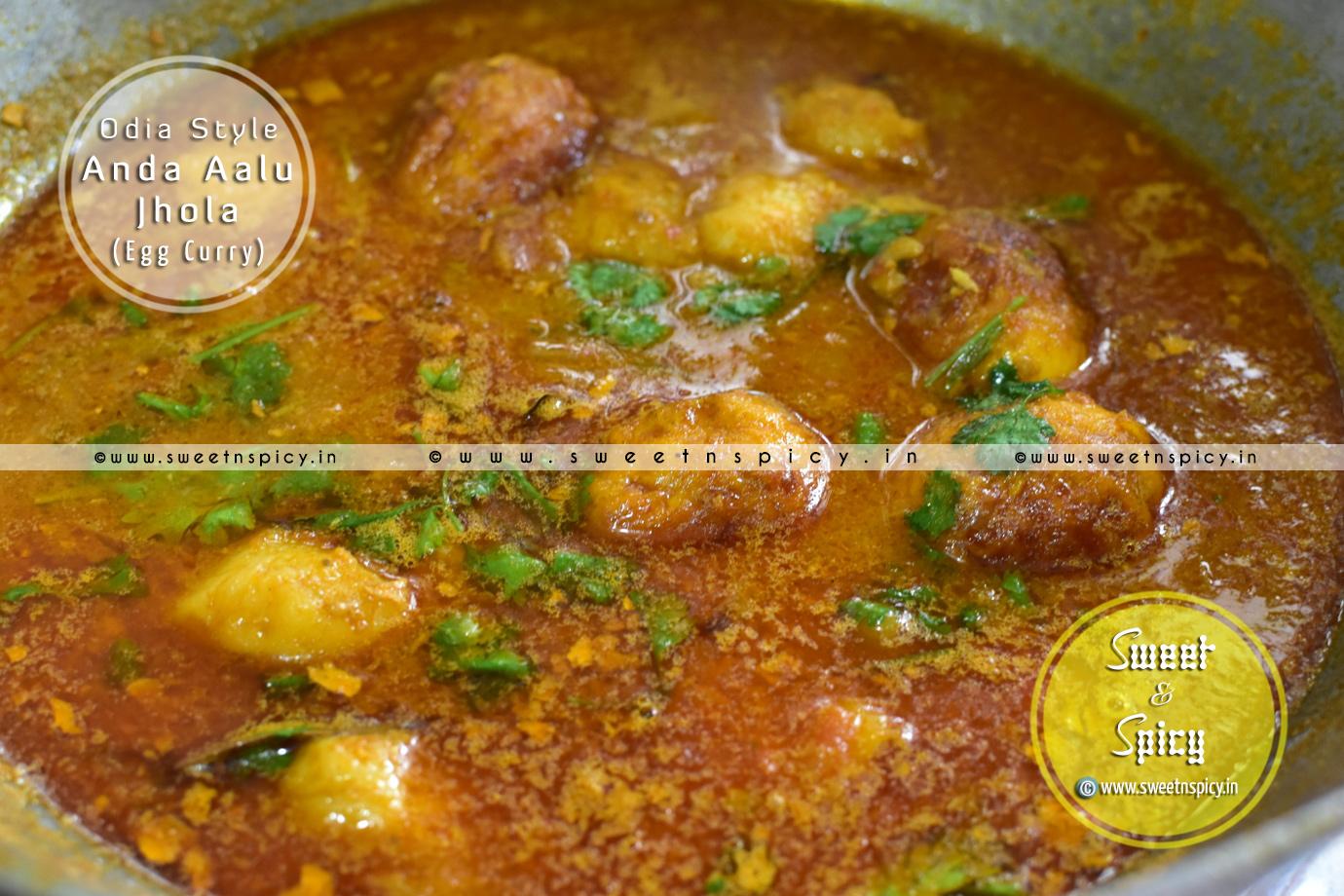 Anda Aalu Jhola (Odia Style Egg Curry)