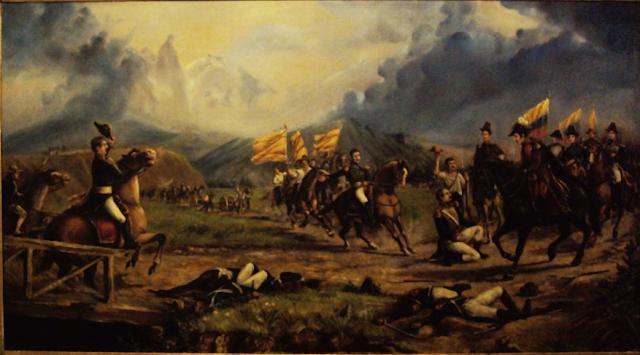 Pintura de la Batalla de Boyacá JW Cañarete