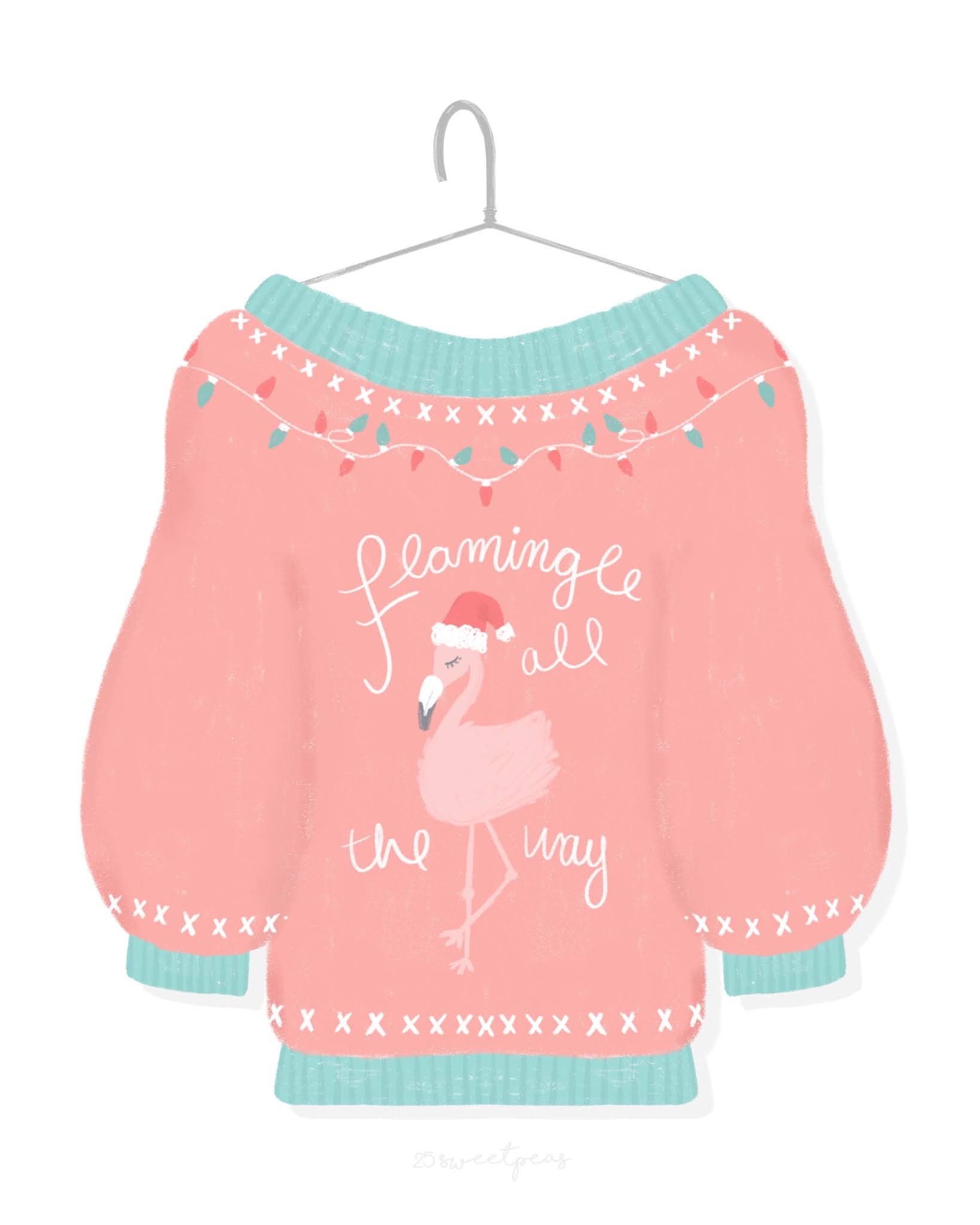 25 Sweetpeas Sweater Weather Illustration