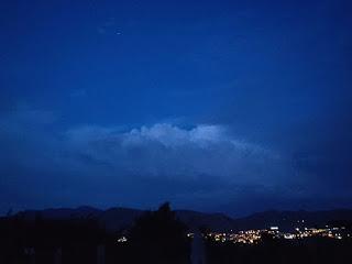 Moonlit across the valley