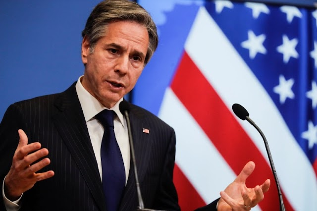 Blinken calls for calm between the Palestinians and Israel