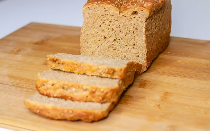 Brown bread made from wheat flour is nutritious