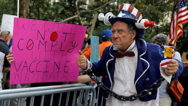 USA: La vaccinazione obbligatoria decisa da Joe Biden potrebbe portare ad una guerra civile