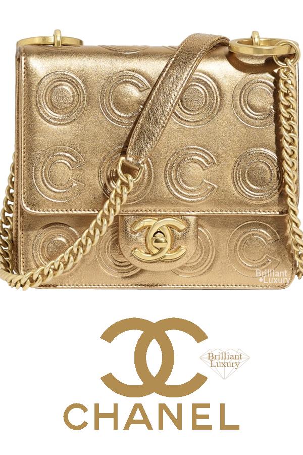 Brilliant Luxury♦Chanel Metallic Flap Bag #gold