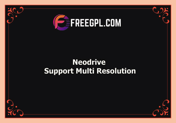 Neodrive – Support Multi Resolution Nulled Download Free