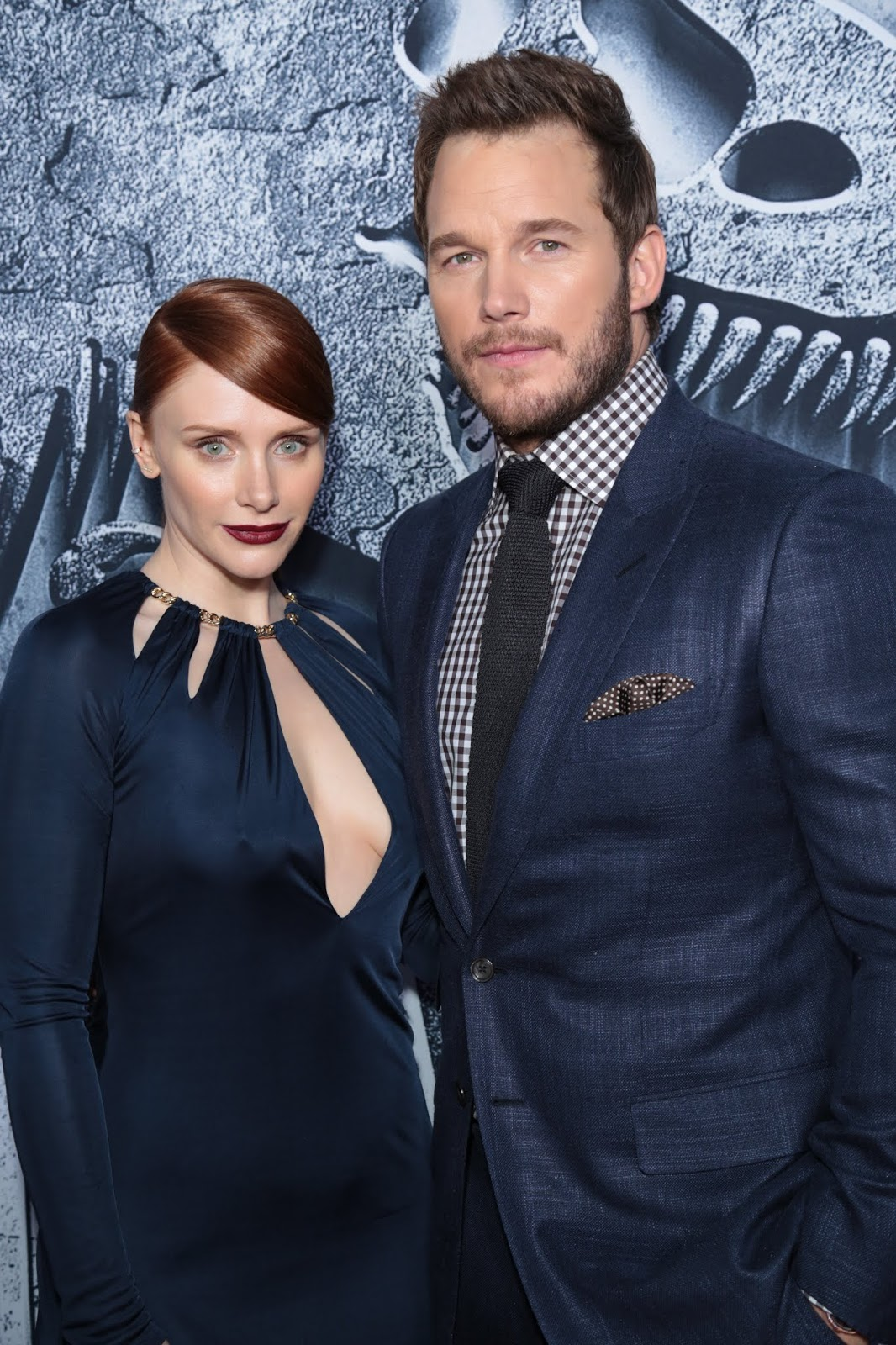 Chris Pratt and Bryce Dallas Howard at the LA Premiere