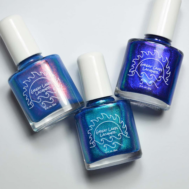 blue color shifting nail polish