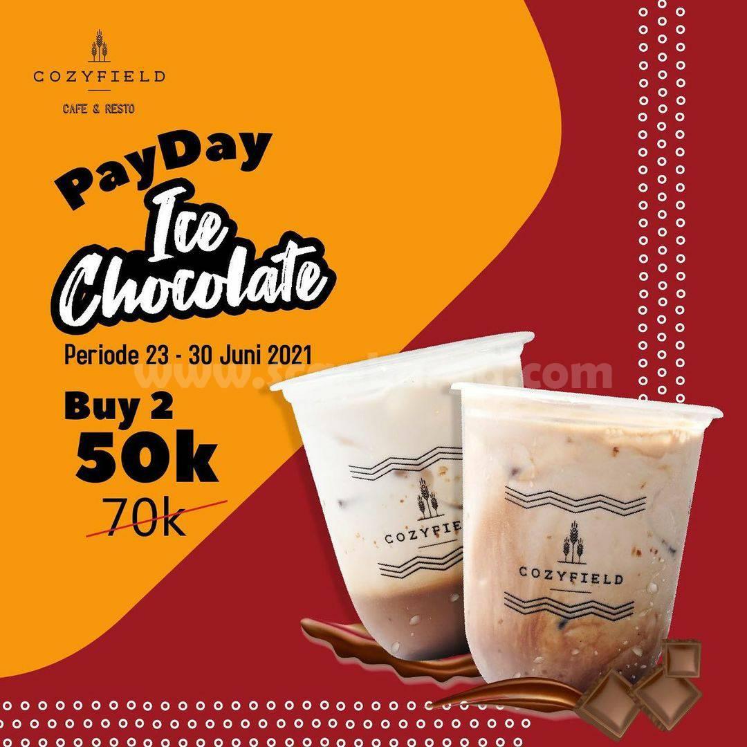 Promo COZYFIELD PAYDAY Spesial Gajian - Harga 2 Ice Chocolate Cuma Rp. 50 Ribu