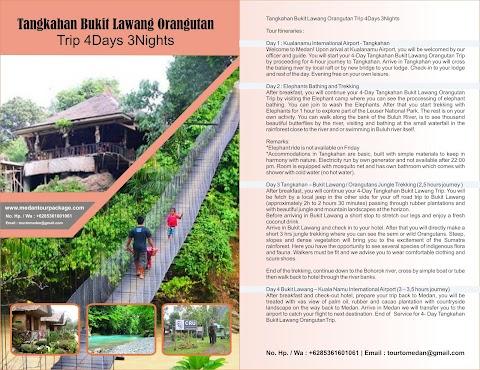 Tangkahan Bukit Lawang Orangutan Trip 4Days 3Nights