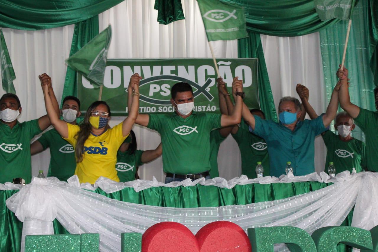 Em convenção, PSC e PSDB fecham chapa para Prefeitura de Alenquer