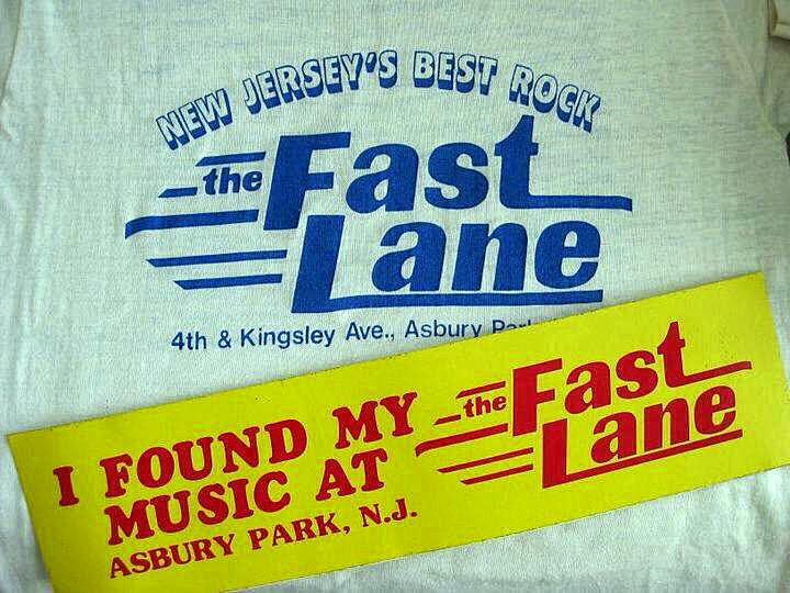 The Fast Lane rock club t-shirt & bumper sticker