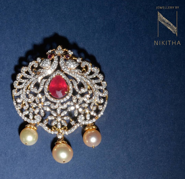 Simple Diamond Pendants for Black Beads