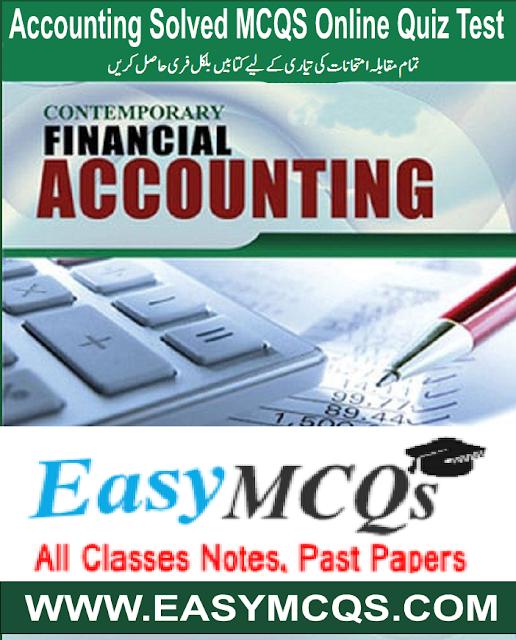 Financial Accounting MCQs PDF Book