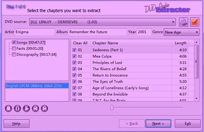 Download DVD Audio Extractor 8.0.0 Full Key, Phần mềm hỗ trợ trích âm thanh từ đĩa.