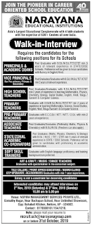 Narayana Schools Nellore District Jobs: