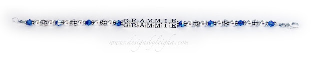 Grammie Birthstone Bracelet with September Swarovski Birthstone Crystals