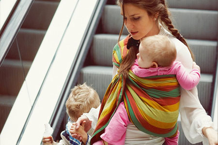 Mundo Petit Fular Portabebes Semielastico -Fular Portabebes Recien Nacido Fular Portabebes Producto de alta calidad Rosa