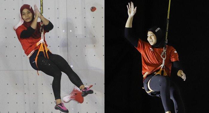 Puji Arahayu dan Aries Susanti Rahayu Panjat Tebing Asian Games 2018