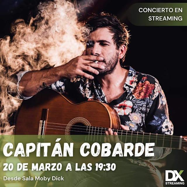 Capitán Cobarde ofrecerá un show en streaming repasando toda su trayectoria