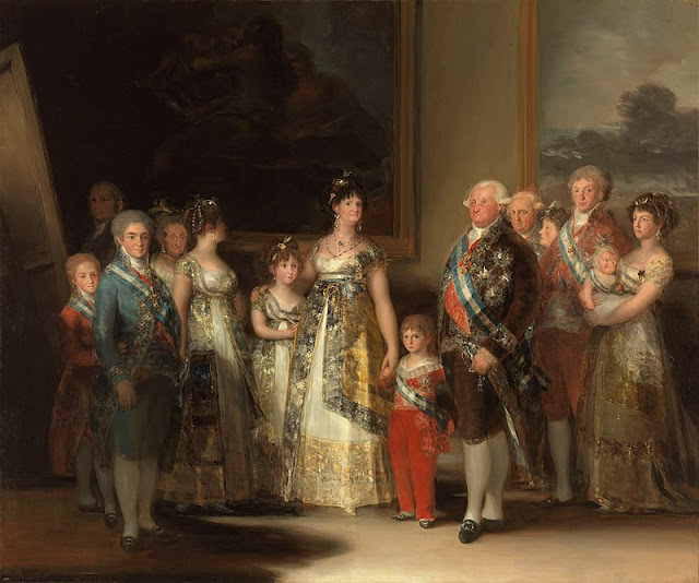 La familia de Carlos IV (1800), obra de Francisco de Goya, Museo del Prado.