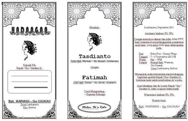 Contoh Desain Undangan Pernikahan Format Word