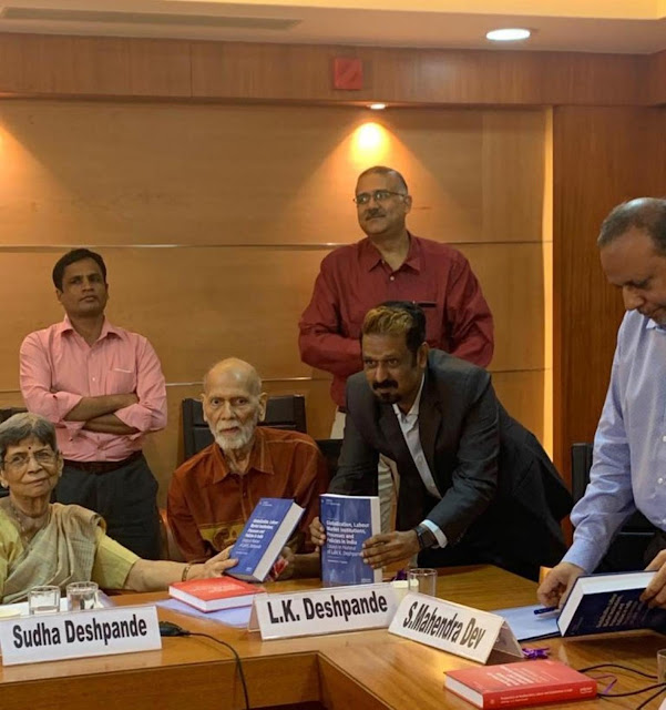 Prof. K.R. Shyam Sundar, XLRI, Jamshedpur organises the release of the books edited by him in Honour of Prof. Lalit K. Deshpande, Former Director, Department of Economics, Mumbai University