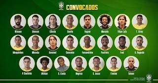 23 jogadores para a Copa do Mundo