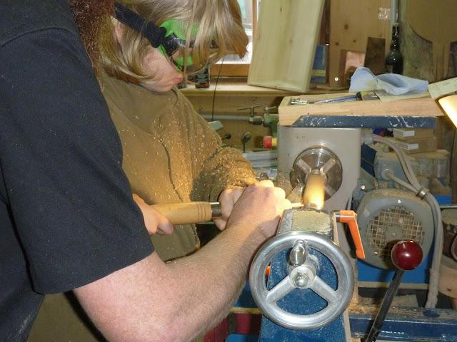 Schnuppern Drechseln Holzbearbeiten Schreinerei