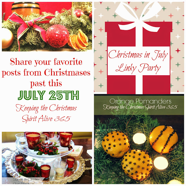 Welcome to the 2014 Christmas in July Linky Party!