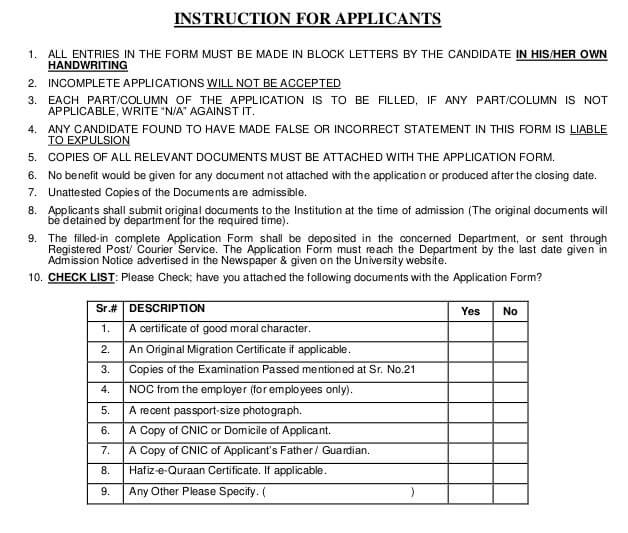 How to Apply for University of Punjab Admission (Complete
