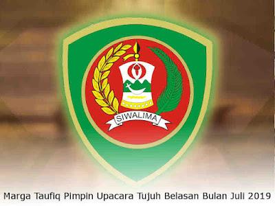Marga Taufiq Pimpin Upacara Tujuh Belasan Bulan Juli 2019