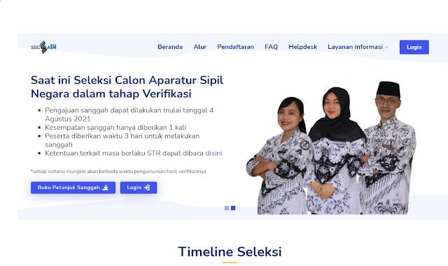 web resmi daftar CPNS