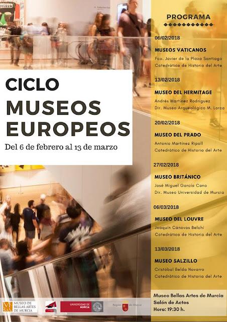"""Ciclo de conferencias """"Museos europeos""""."""