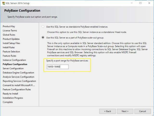 PolyBase Configuration