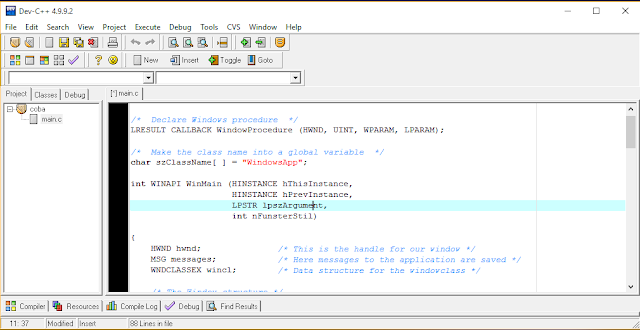 Download Aplikasi Pemrograman Berbasis C/C++ (Dev-C++)