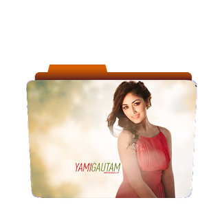 Preview of cute Yami gautam, red dress, folder icon