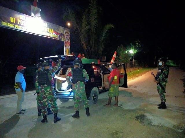 Cegah Kegiatan Ilegal di Perbatasan Papua, Satgas Yonif 512 Gelar Sweeping