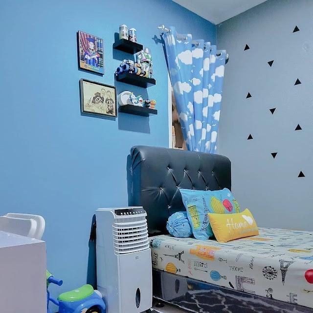 Aplikasi Warna Biru pada Desain Interior Kamar Tidur Minimalis Terbaru