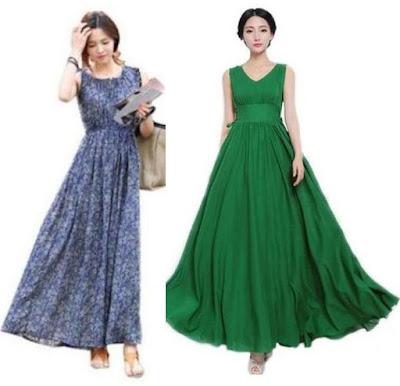 43 City Women's Bohemian Floral Chiffon Beach Long Maxi dress