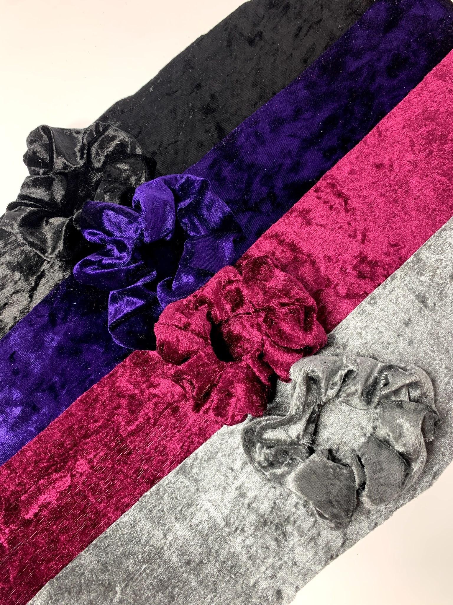 Sammi's Scrunchies Velvet Scrunchies Lined Up