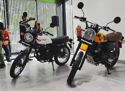 Kawasaki Rilis Kawasaki W175TR, versi srambler/tracker di keluarga W175