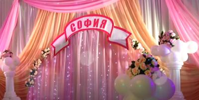 Inspiration für die Luftballondekoration der Hochzeitstafel.