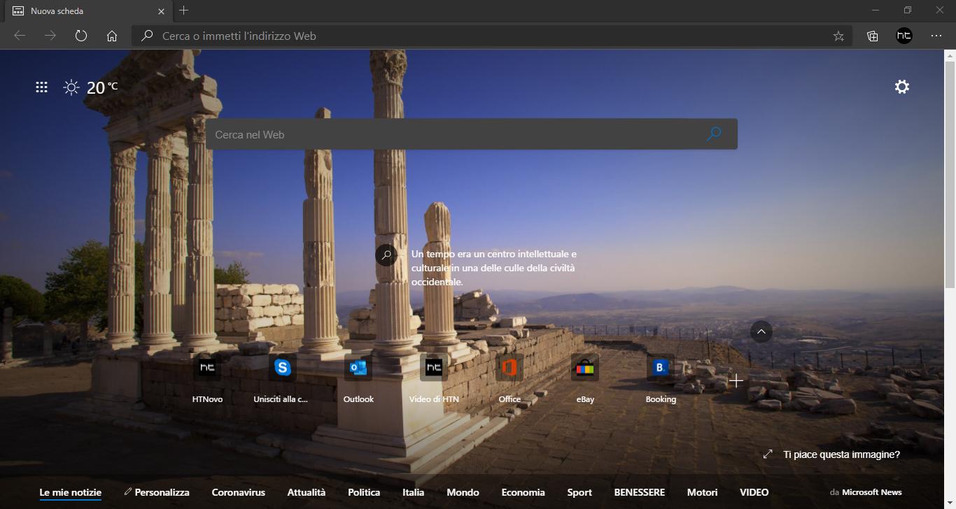 Microsoft Edge 86 disponibile | Novità
