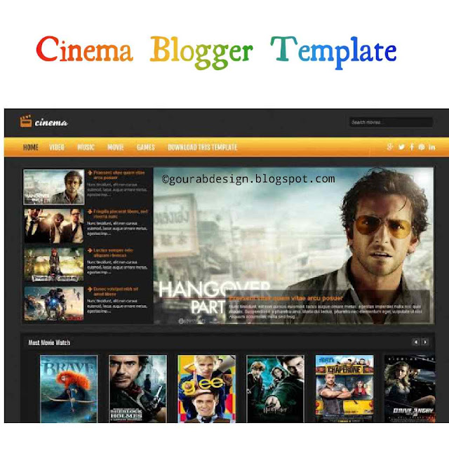cinema blogger template