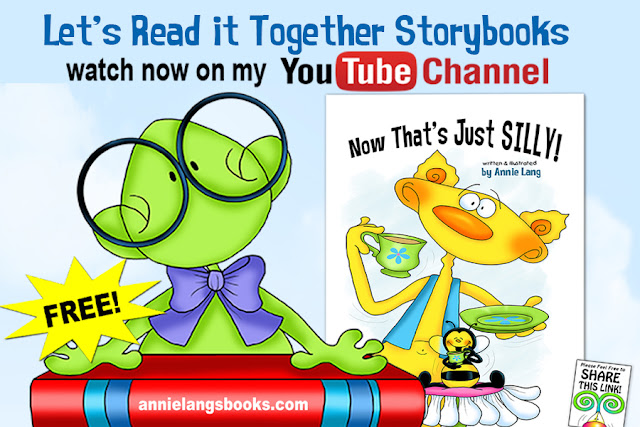 Watch FREE Let's Read it Together books written, illustrated and narrated by Annie Lang on her YouTube Channel https://www.youtube.com/channel/UC5WoeSpAmftImdCmUY3CwSA